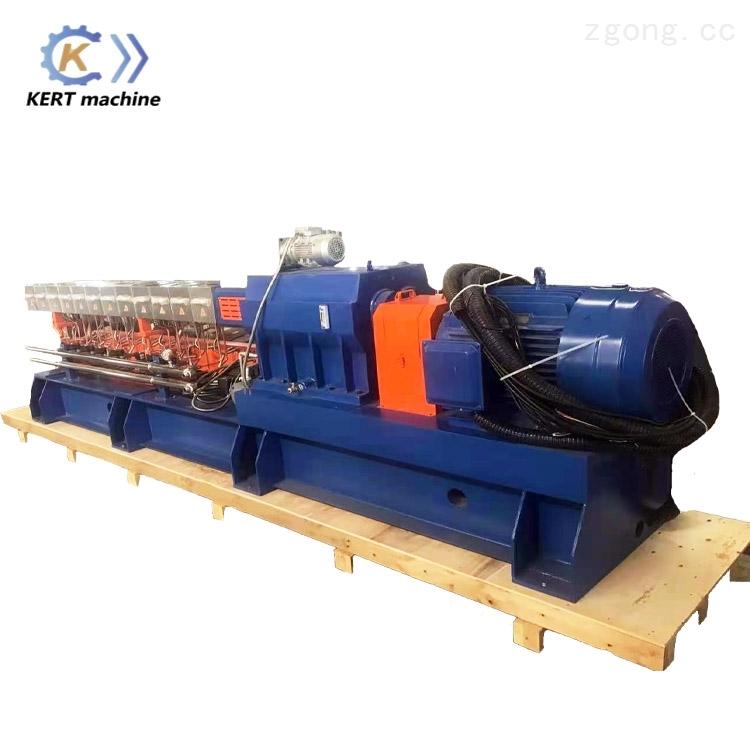 双螺杆KET52机水冷拉条色母料造粒机 PP,PE塑料改性造粒机生产设备