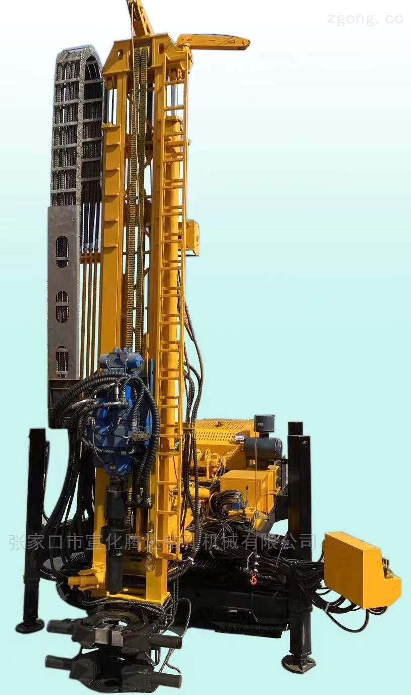 全液压顶部冲击回转履带多功能水井钻机